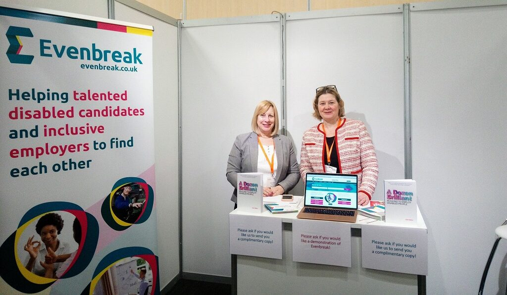 The lovely ladies from EvenBreak at the In House Recruitment Expo 2020