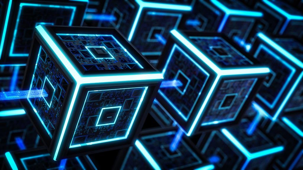 A visual representation of a blockchain